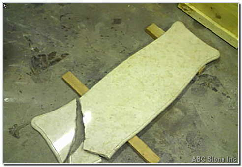 Cracked Marble Mini Table