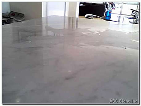 Marble Countertop. Before Restoration