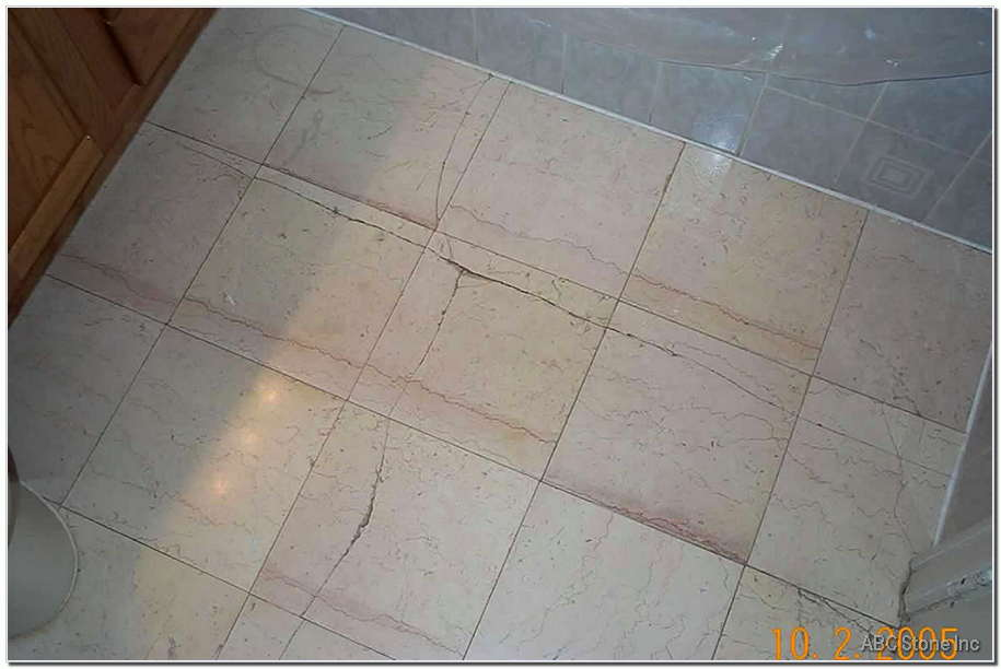 Marble Floor Crack Restoration