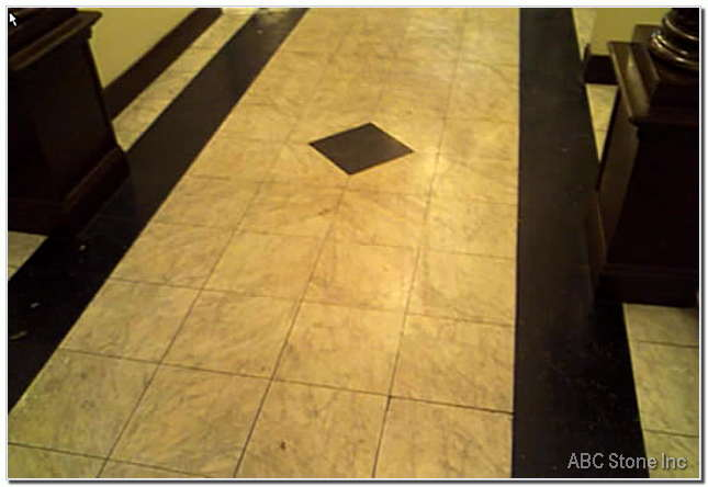 Marble Lobby Floor Before Work