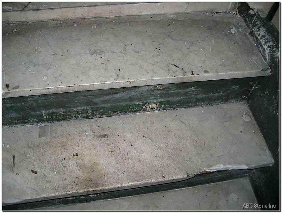 Marble Step Before Replacment