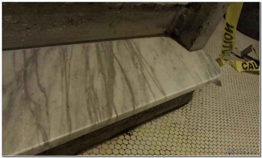 Marble Step. New installation