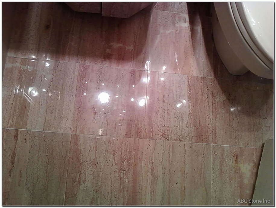 Polished Bathroom Floor
