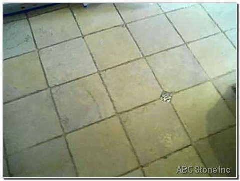 Marble Floor. Before Re Grouting
