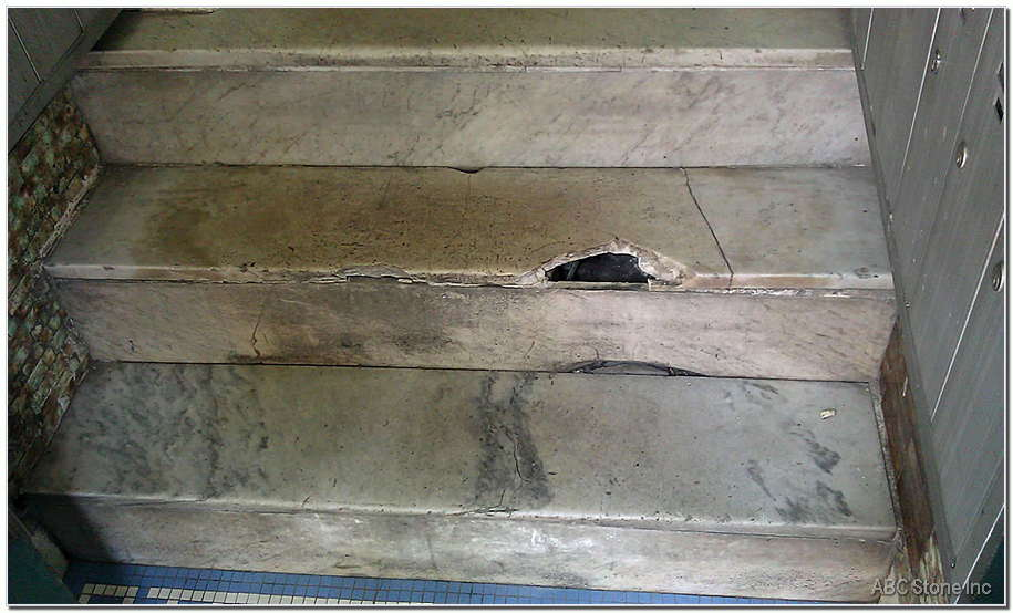 Marble Steps Repair Placement