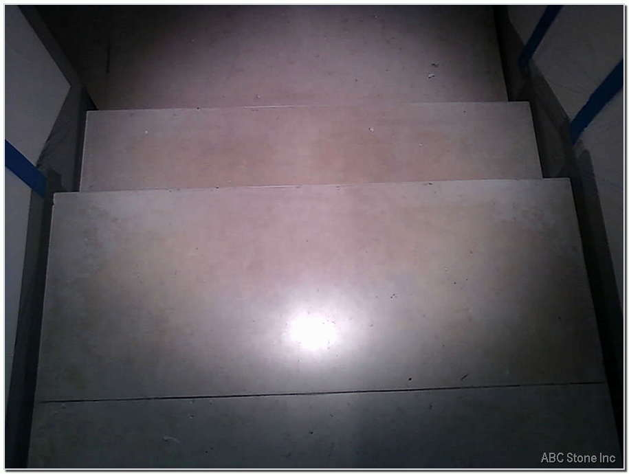 Marble Steps. Before Cleaning