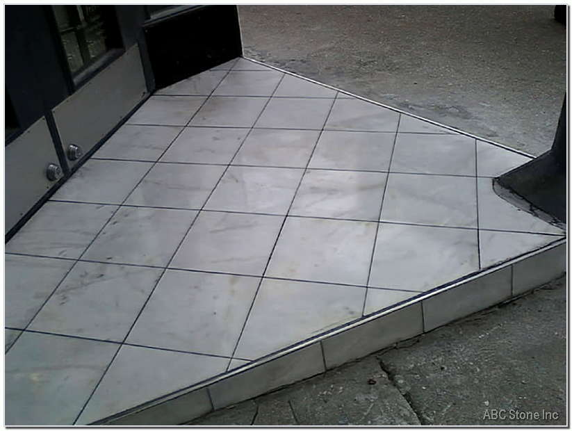 Retail Store Marble Step. After