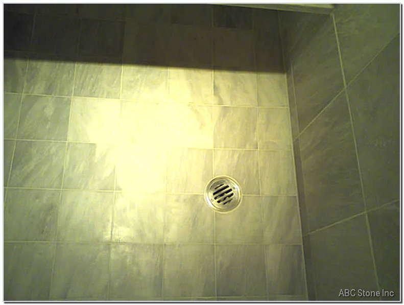 Tiled Shower Floor Cleaned
