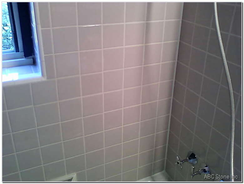 Shower Tiles. Mold Removed