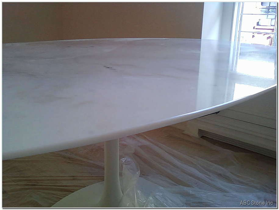White Tabletop. Chips Fixed